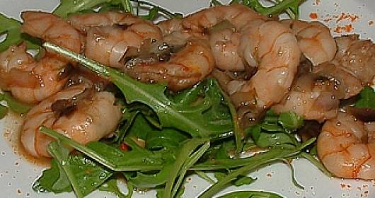 Gamberetti alla rucola