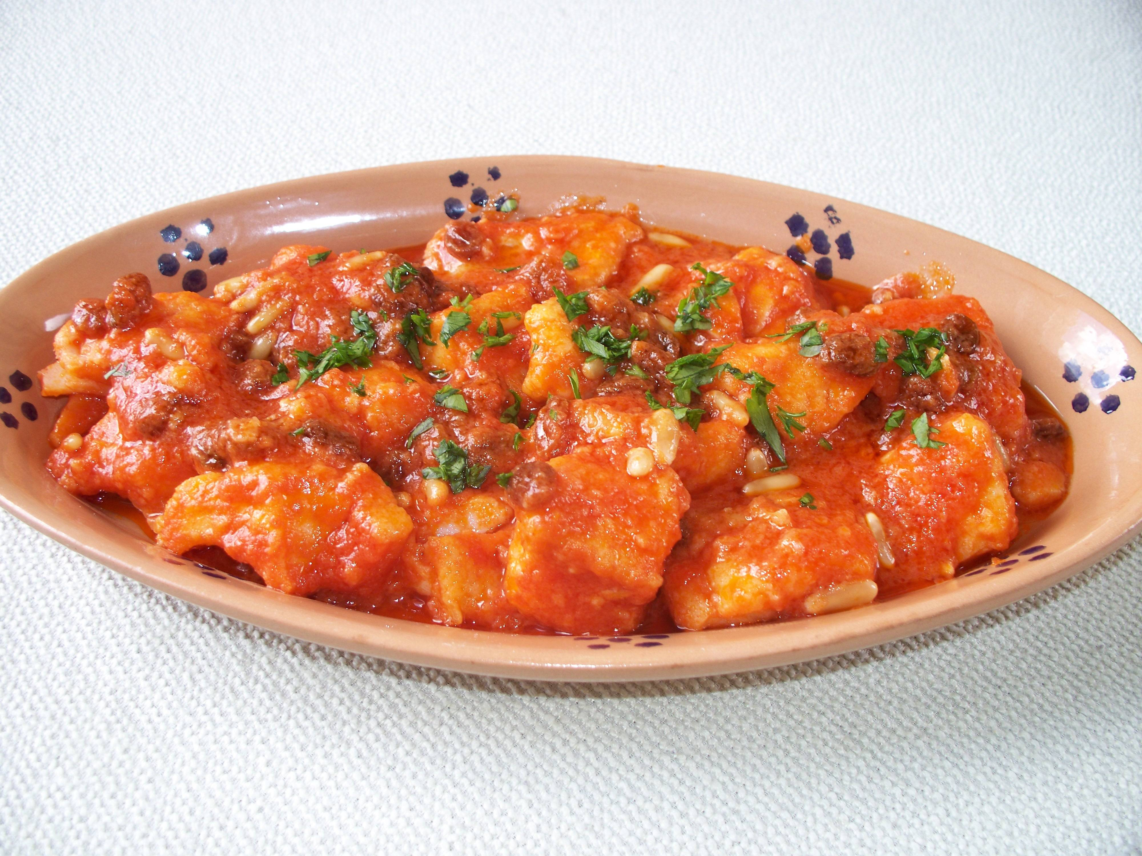 Baccalà agrodolce